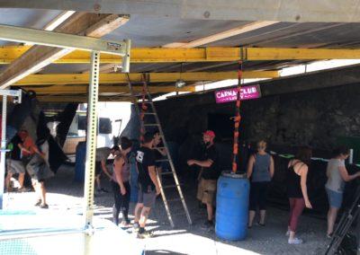 Montage du Bar Carna Club et Roccan's Team